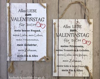 Valentine's Day the declaration of love, for you or for him