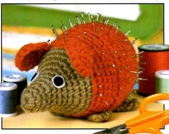 Vintage Crochet Pattern Porcupine or Hedgehog Pin Cushion Amigurumi PDF Instant Digital Download Plush Toy or Sewing Notion Holder
