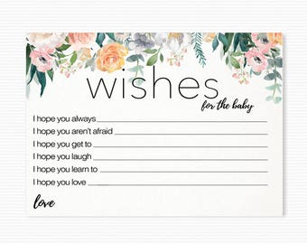 Wishes for the Baby Instant Download printable Baby Shower Game