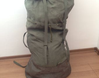French military Backpack - Bulgarian military backpack - Bulgarian Backpack - Vintage military backpack - army backpack - Large backpack