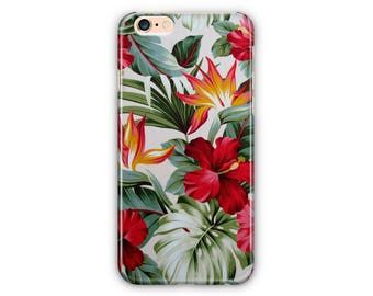 Tropic Floral Phone Case for iPhone8/iPhone 7/7Plus, iPhone 6/6Plus iPhone5 Samsung Galaxy S7/7 edge /S6/S6 edge/S5