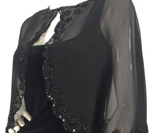 1960s black sheer shawl