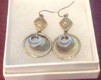 Gold tone earrings  pierced round