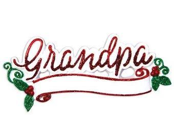 New Grandpa Personalized Christmas Ornament