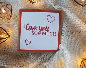 Anniversary Card/Valentine's Card/ Anniversary Card/I Love You Card/Just Because Card