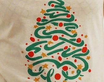 Christmas tree print t-shirt