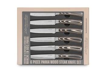 6 Piece Pakka Wood Steak knife Set