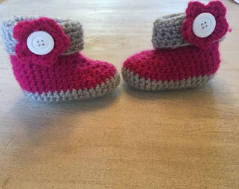 Crochet Baby Girl Boots