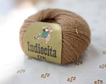 Indiecita 100% Baby Alpaca Yarn -DK- Brown