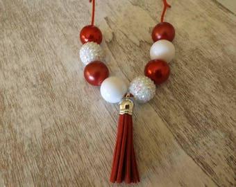 Saint Nick chunky bead necklace
