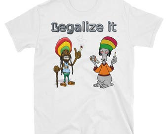 Weed Shirt Men's T-Shirt white Large Shirt Legalize it