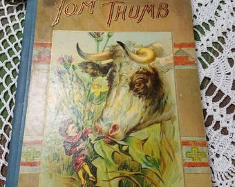 Antique 1900s Tom Thumb Childrens Book