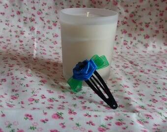 Royal blue roses, hair clip