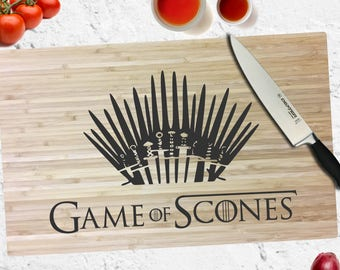 Game of Scones - Game of Thrones - Engraved Cutting Board - Personalized - Custom - Wedding - Gift - Anniversary