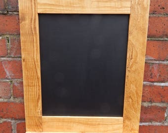 Chalk Board - Wooden Frame - Chalk Shelf