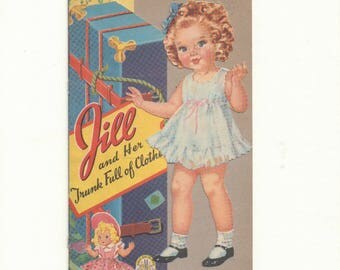 Vintage Forties Paper Doll 'Jill and her Trunk'
