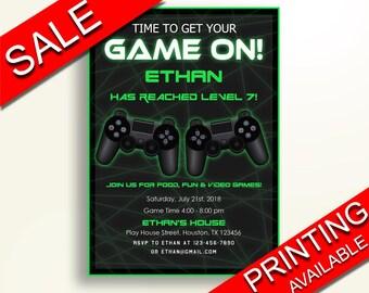 Video Game Birthday Invitation Video Game Birthday Party Invitation Video Game Birthday Party Video Game Invitation Boy Girl MXU0J