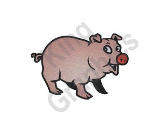Pig - Machine Embroidery Design