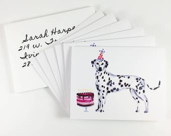 6 Pack of Dalmatian Birthday Cards