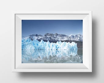 Digital Print - Glacier Print, Southern Patagonia