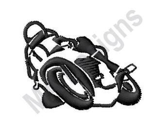 Motorcycle Rider - Machine Embroidery Design