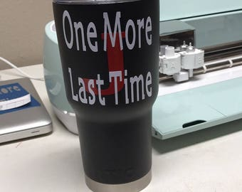 Yeti mug with custom vinyl