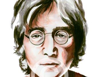 John Lennon / Watercolor
