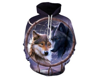 Wolf Hoodie, Wolf, Wolf Hoodies, Animal Prints, Animal Hoodie, Animal Hoodies, Wolves, Hoodie Wolf, Hoodie, 3d Hoodie, 3d Hoodies - Style 9