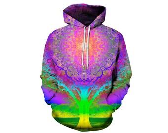 Tree Hoodie, Outdoor Hoodie, Tree Sweatshirt, Nature Hoodie, Art, Hoodie Art, Hoodie Pattern, Pattern Hoodie, Hoodie, 3d Hoodie - Style 3