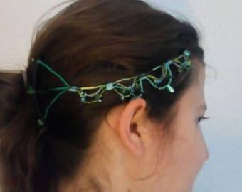 Undulation Beaded Hair Clip