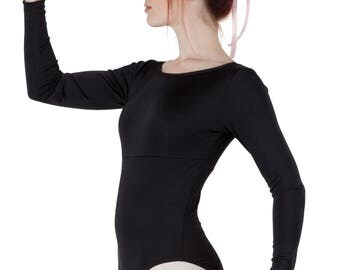 Women's Long Sleeve Dance Ballet Leotard - Variety of Colors Available