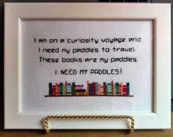 Stranger Things Cross Stitch,Dustin Quote,Stranger Things Gift,Stranger Things, Funny Quote,Boyfriend Gift,Booklover Gift, Teen Boy Gift