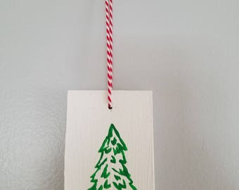 Hand painted wooden ornament