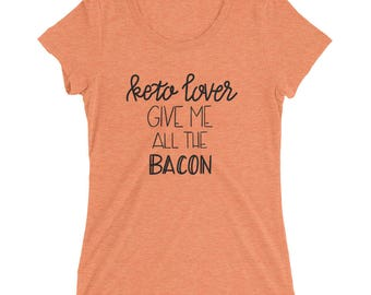 Keto Lover - Bacon - Ladies' short sleeve t-shirt