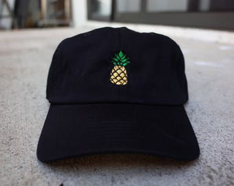 Pineapple Six Panel Unstructured Baseball Cap Dad Hat