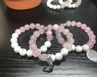 Howlite and Rose Quartz bracelet