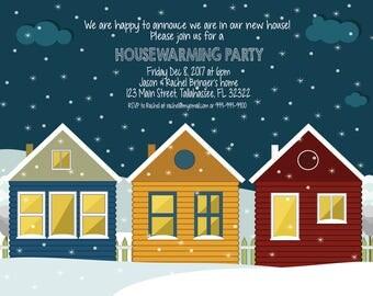 Custom Winter Housewarming Printable Invitation
