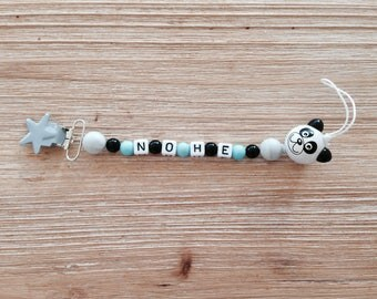 Personalized panda pacifier