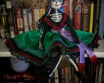 OOAK- Day of the dead-dia de Los muertos-art doll