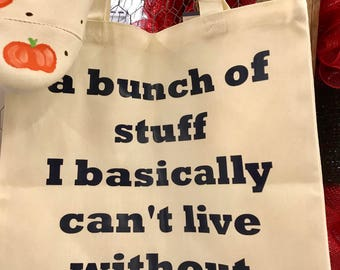 A bunch of stuff tote bag