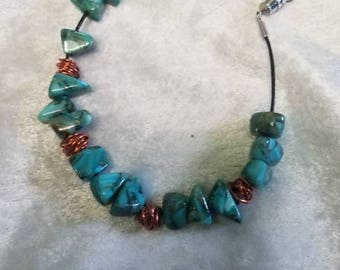 Copper meets turquoise