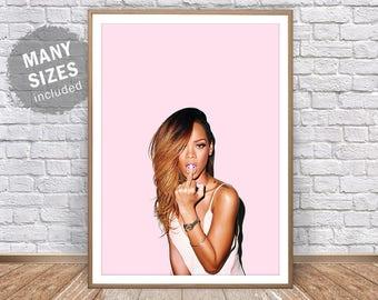 Rihanna Print Rihanna Poster Rihanna Wall Art Rihanna Pop Art Riri Wild Thoughts Rihanna Anti Rihanna Art Work Rihanna Inspired Rihanna Art