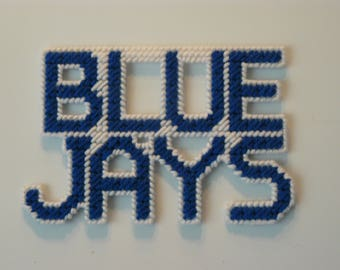 BLUE JAYS in Handmade, Needlepoint Magnets