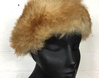 Vintage Retro 80s Furry Cossack Hat