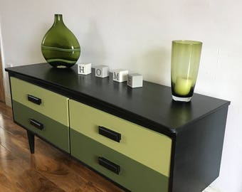 Upcycled Retro Vintage Mid Century Sideboard