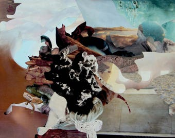 Sublimation printing - (dreamlike imaginary abstract fantasy worlds table collage travel)