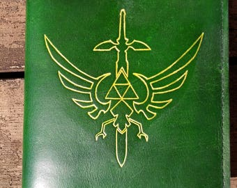 Handcrafted Zelda Leather Journal Cover, refillable journal
