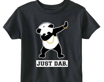 Just Dab Panda Toddler T-shirt (Black)