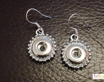 Beautiful Vintage Circular Earrings for 12mm Snaps