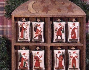 The Prairie Schooler OLD WORLD SANTAS Cross Stitch Pattern Chart Book No. 80 euc
